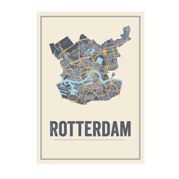 Rotterdam kaart poster