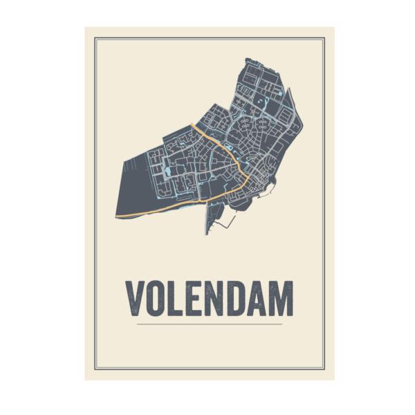 Kaart Volendam poster