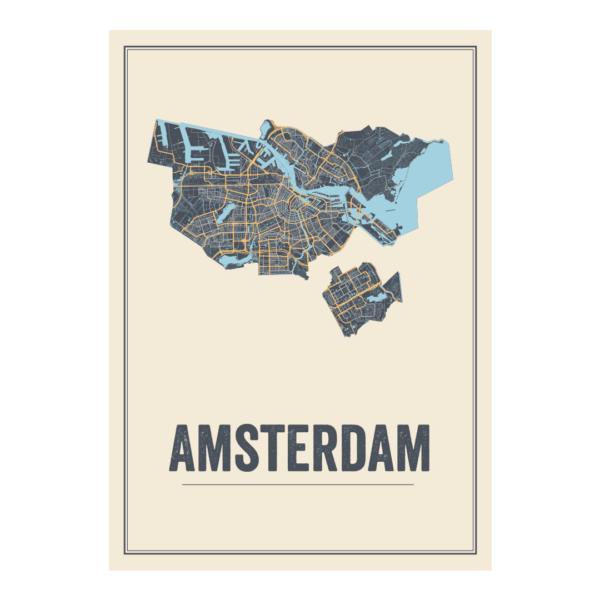 Stads kaart Amsterdam