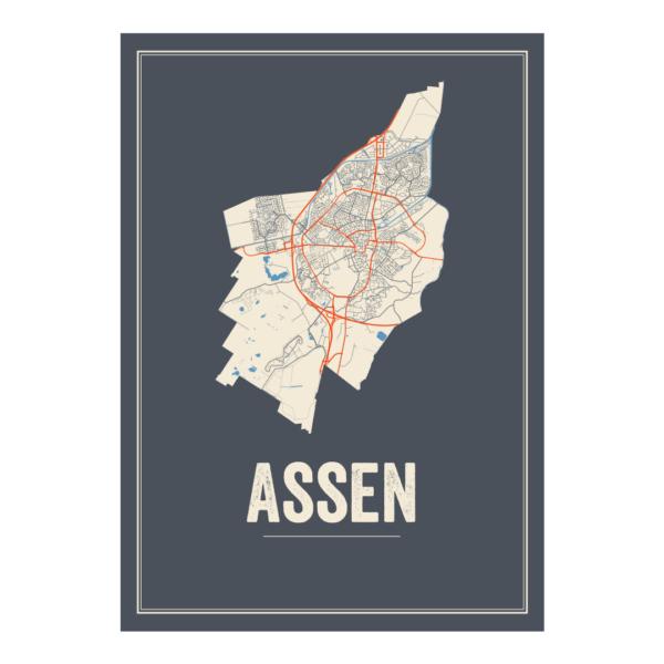 Assen stadskaart
