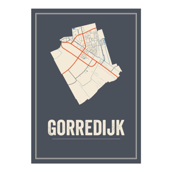 stadskaart Gorredijk