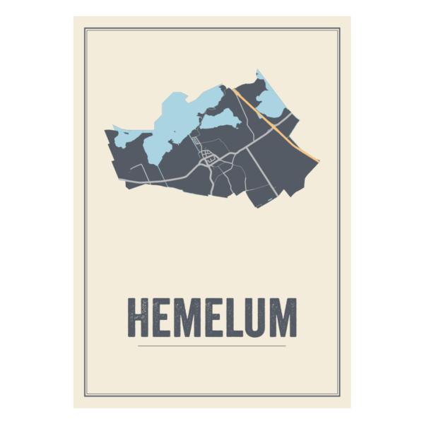 Hemelum poster kaart