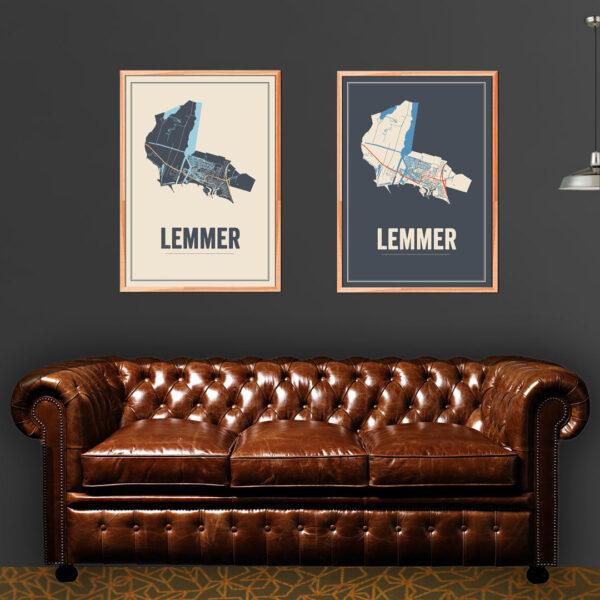 Lemmer kaarten poster