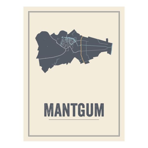 Mantgum kaarten poster