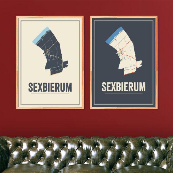 Sexbierum kaarten posters