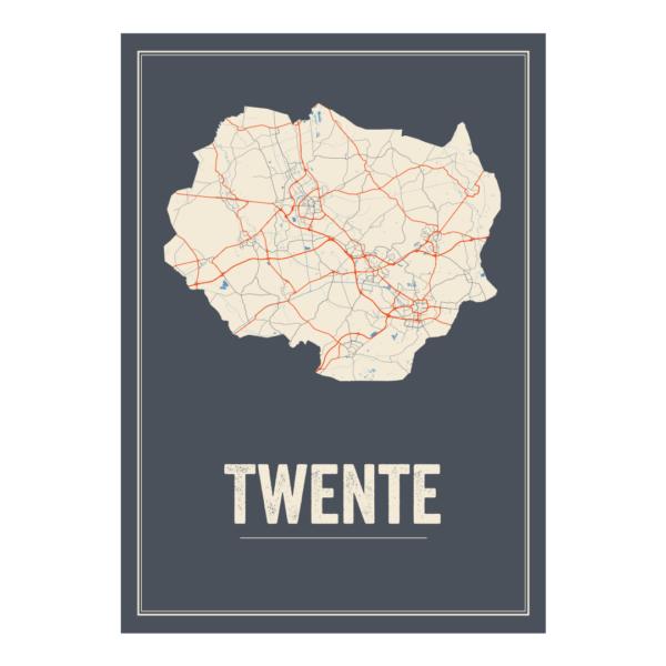 Twente poster kaart