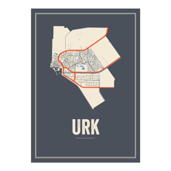 Urk plattegrond poster