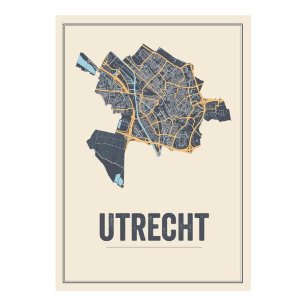 poster kaarten Utrecht Stad