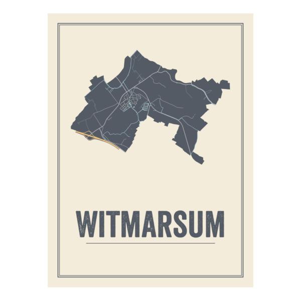 Witmarsum kaart