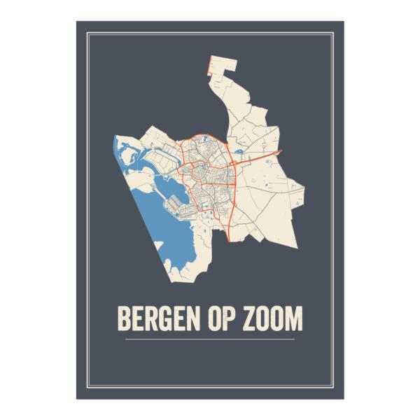 Bergen op Zoom stadskaart
