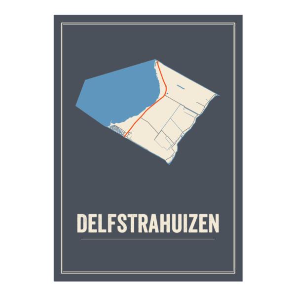 Delfstarhuizen plattegrond poster
