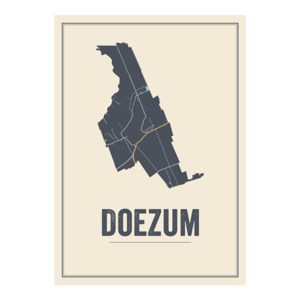 plattegrond poster Doezum
