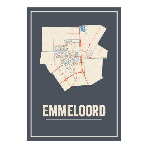 Emmeloord plattegrond poster
