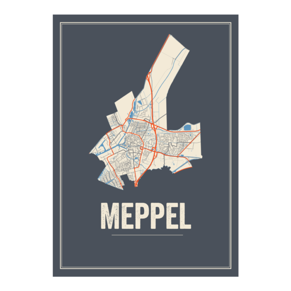 Meppel poster plattegrond