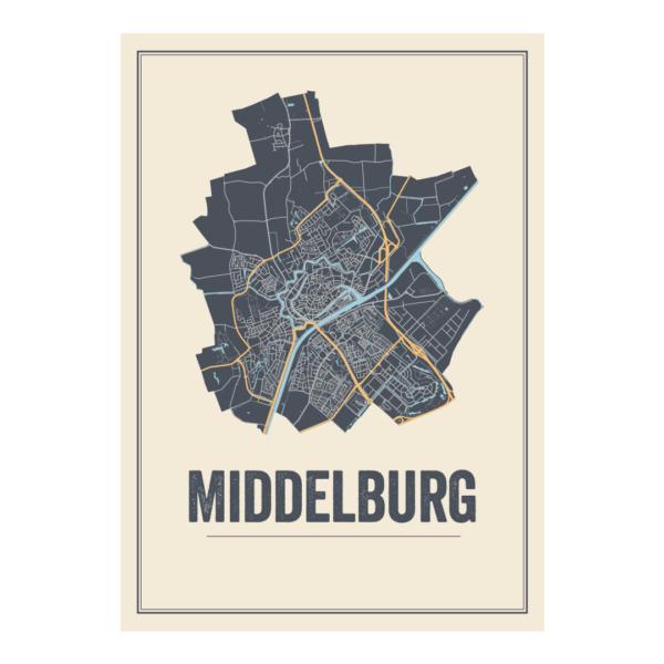 Middleburg plattegrond poster