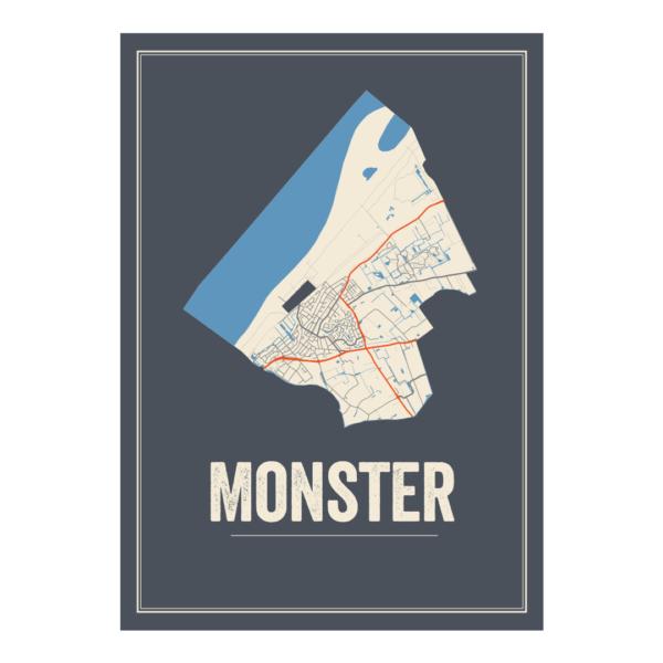 Monster plattegrond poster Nederland