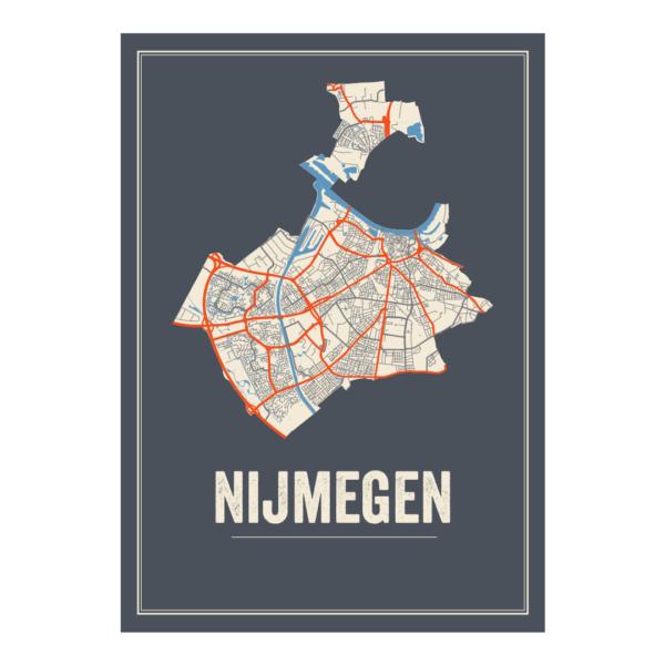 Nijmegen plattegrond poster