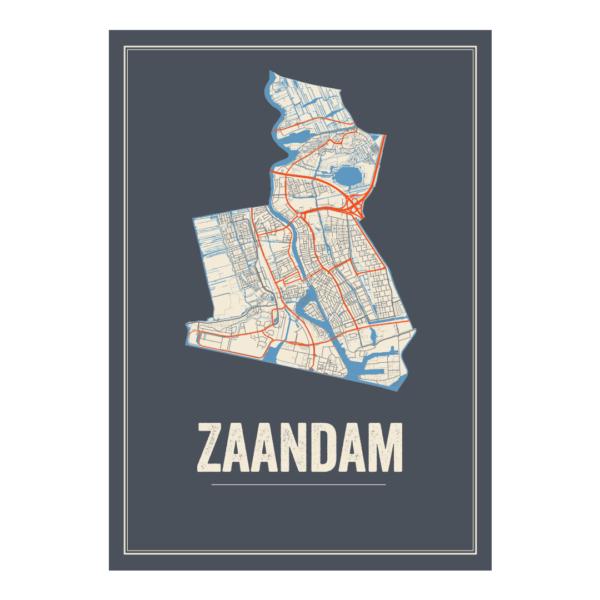 poster plattegrond Zaandam