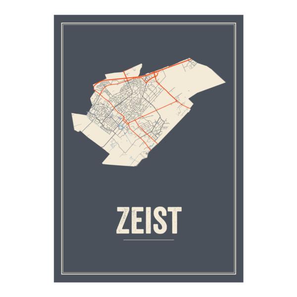 Zeist poster stadskaart
