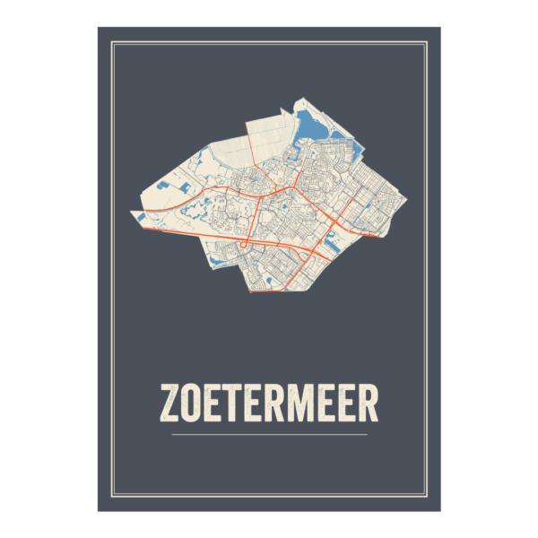 Zoetermeer poster plattegrond