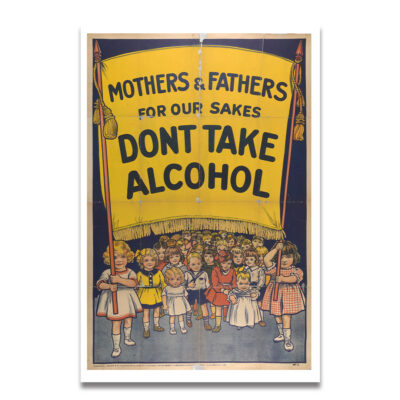 Alcohol reclame poster