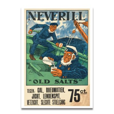 Neverill salts reclame poster