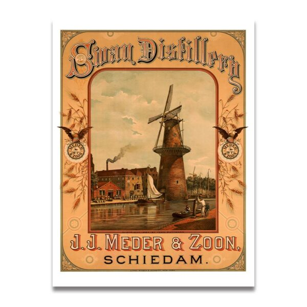 Swan Distillery advertising poster
