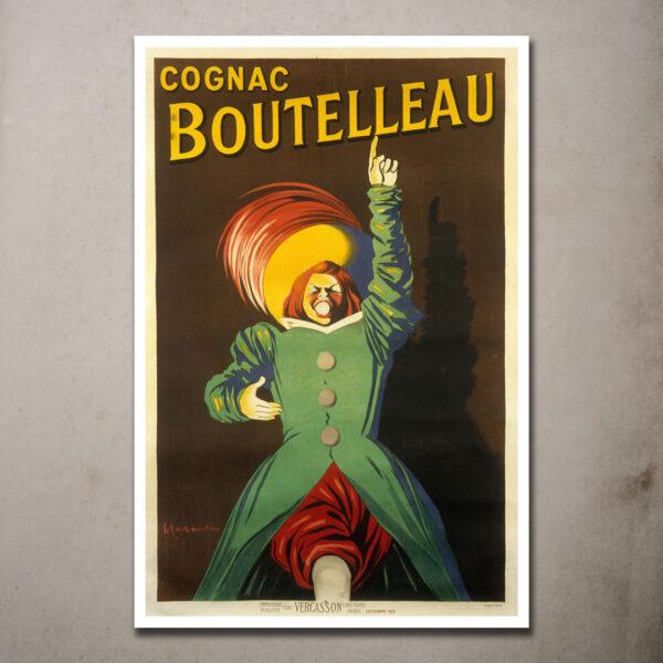 vintage cognac boutelleau poster