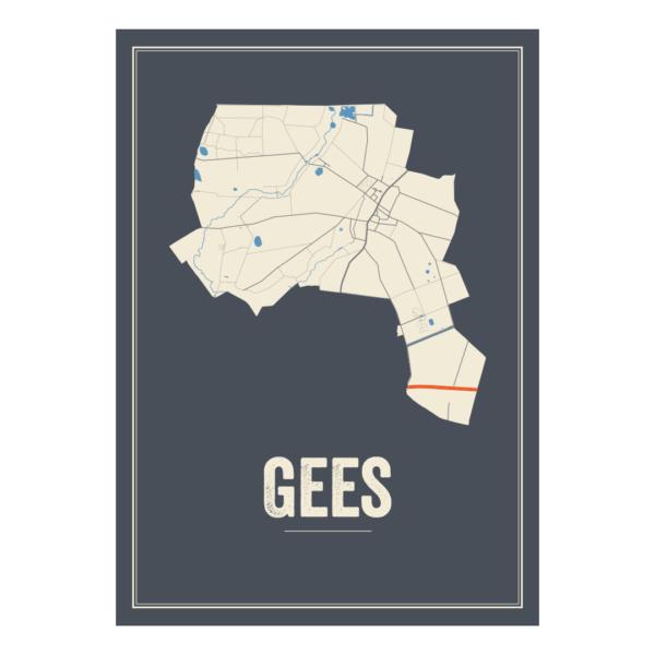 kaart van Gees