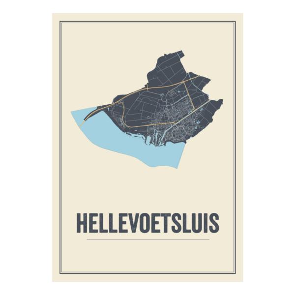 plattegrond poster Hellevoetsluis