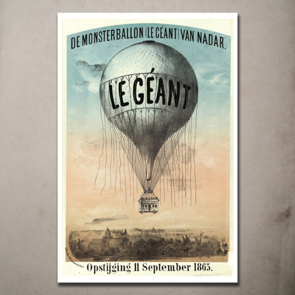 Le Geant - hot air balloon posters
