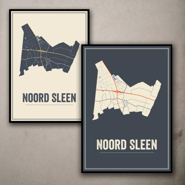 Noord Sleen poster kaarten
