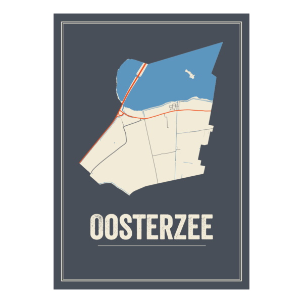plattedgrond poster Oosterzee