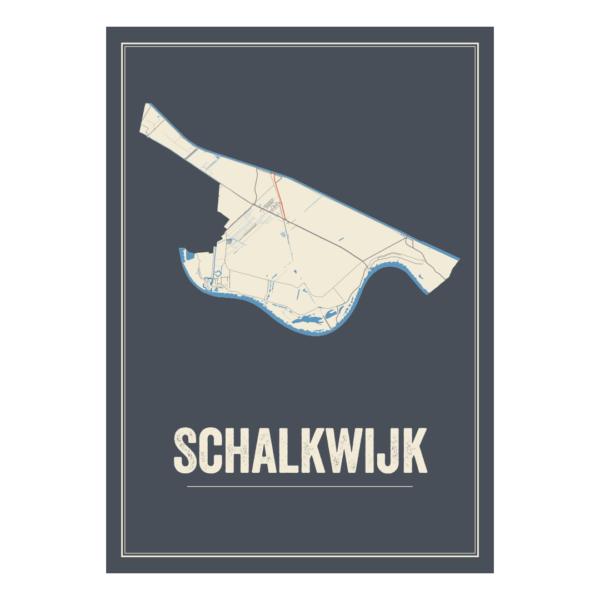 Schalkwijk plattegrond posters