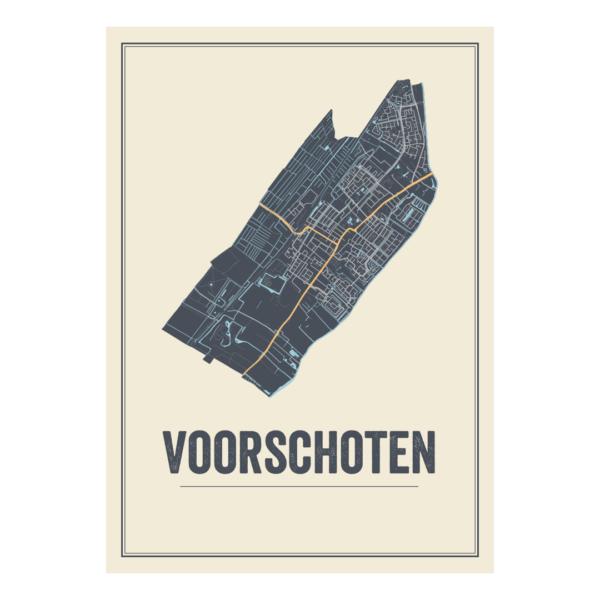 map poster Voorschoten