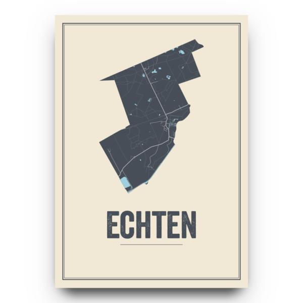 dorpskaart Echten