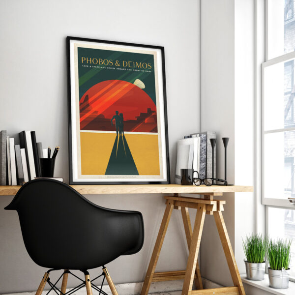 Space Travel retro posters