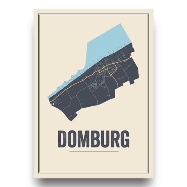 Domburg kaart poster