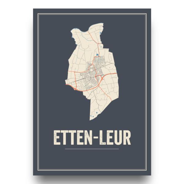 Etten-Leur stadskaart poster