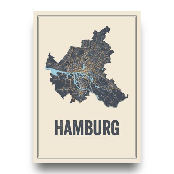 Hamburg city map