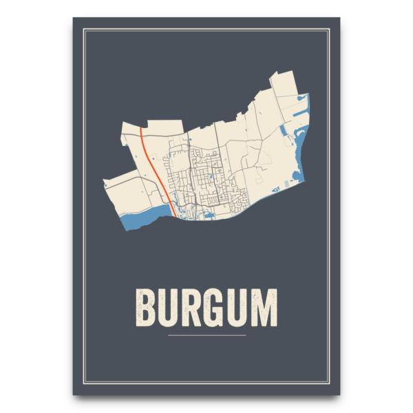 poster kaarten Burgum