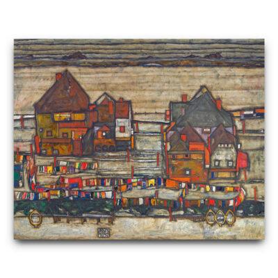 Hauser mit Bunter - Egon Schiele
