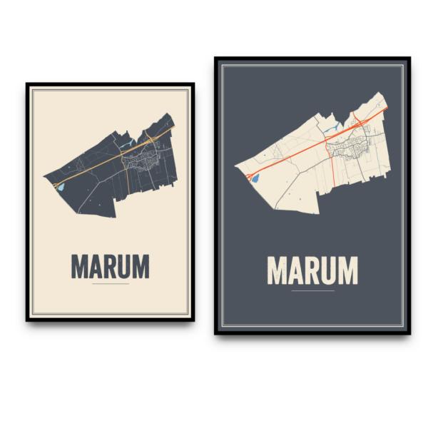 Marum dorps kaart
