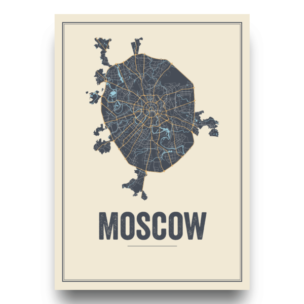 Russia city posters