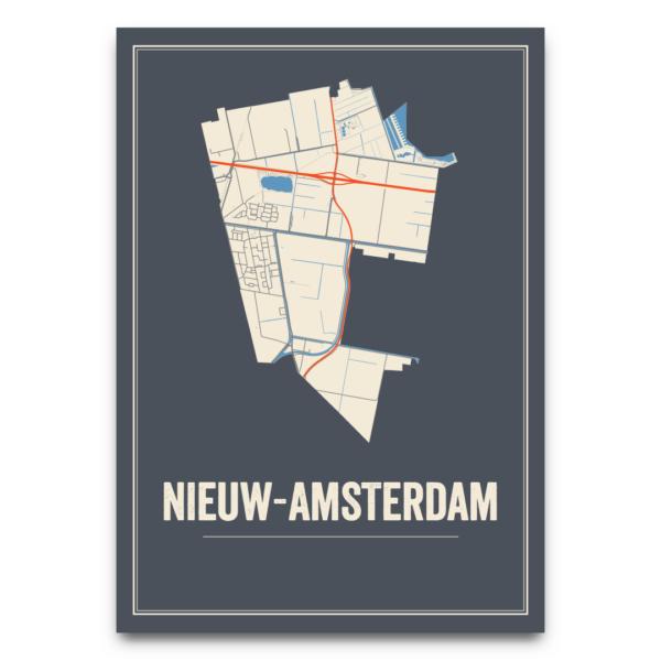 poster kaarten Nieuw-Amsterdam