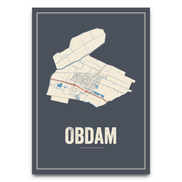 posterkaart Obdam