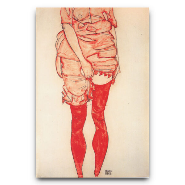Stehende Frau in Rot - Egon Schiele