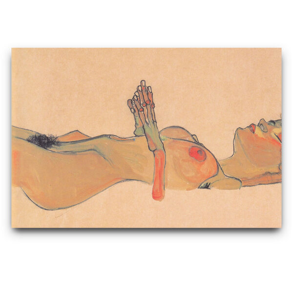 Totes_Madchen 1910 by Egon Schiele