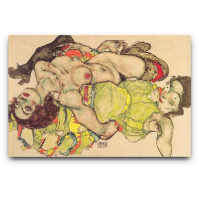 loving female couple Egon Schiele
