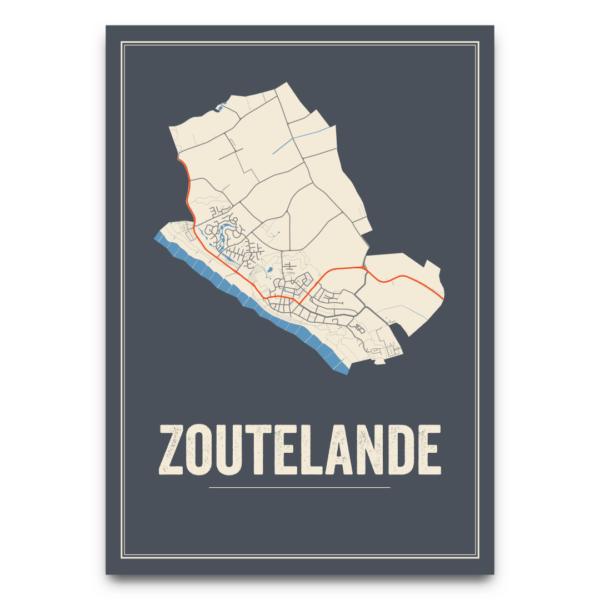 poster kaart Zoutelande